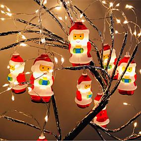 USB Powered-5.4ft LED Santa Claus Christmas Fairy String Lights 10 Mini Santa Claus Decorative Lights for Christmas Tree Theme Wedding Party Home Bedroom Decor