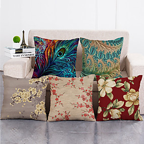cheap Slipcovers-1 Set of 5 Pcs Throw Pillow Covers Modern Decorative Throw Pillow Case Cushion Case for Room Bedroom Room Sofa Chair Car,18*18 Inch 45*45cm