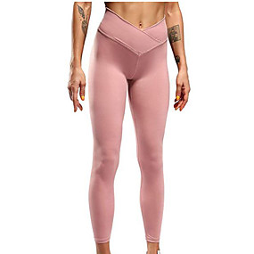 cheap Yoga & Fitness-Women's Yoga Pants Scrunch Butt Ruched Butt Lifting Tights Tummy Control Butt Lift Breathable Black Pink Dark Gray Yoga Fitness Gym Workout Sports Activewear Stretchy