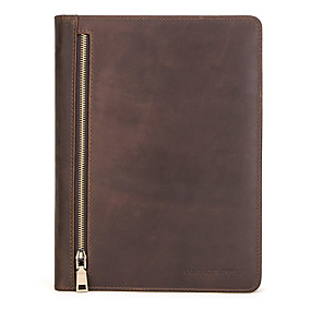 cheap iPad case-Case For Apple iPad Pro 10.5 / Ipad air3 10.5' 2019 Card Holder / Shockproof / Flip Full Body Cases Solid Colored Genuine Leather