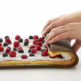 billige Bakeformer-silikon bakematten nonstick kake og sveitsisk rullpute 1 stk