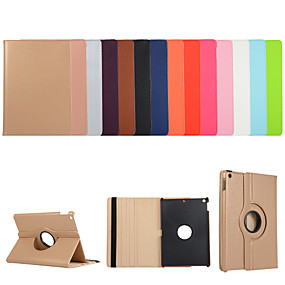 cheap iPad case-Case For Apple iPad Air iPad Air 2 Ipad air3 10.5 2019 2 3 4 ipad pro 10.5inch  10.2inch with Stand Flip Full Body Cases Solid Colored PU Leather TPU 360 Degree Rotating Protective Stand Cover