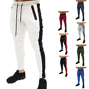 cheap Exercise, Fitness & Yoga-Men's Sweatpants Joggers Jogger Pants Track Pants Athleisure Bottoms Drawstring Winter Fitness Gym Workout Performance Running Training Breathable Quick Dry Soft Normal Sport White Black Blue Red