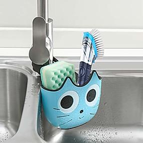 cheap Kitchen Storage-Sink Caddy Sponge Holder And Brush Holder Sink Strainer Accessories Organizer Non-slip No Drilling