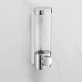 cheap Soap Dispensers-Bathroom Liquid Soap Dispenser Wall Mounted For Kitchen Plastic 500ml Shower Gel Detergent Shampoo Bottle Hotel Home Accessories