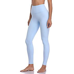 cheap Yoga & Fitness-Women's Yoga Pants Hidden Waistband Pocket Tights Tummy Control Butt Lift Breathable Black Light Blue Yoga Fitness Gym Workout Sports Activewear Stretchy