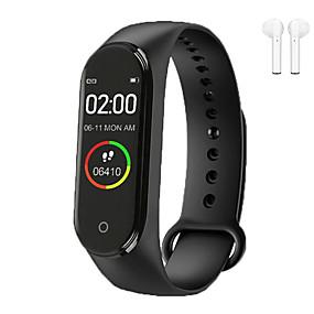 billige Nyheter-Indear QW-M4 Menn kvinner Smart armbånd Android iOS Bluetooth Pekeskjerm Pulsmåler Blodtrykksmåling Sport Kalorier brent Pedometer Samtalepåminnelse Aktivitetsmonitor Søvnmonitor Stillesittende