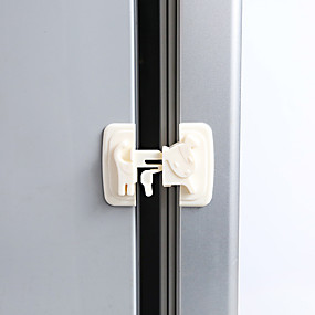 cheap Bathroom Gadgets-4Pcs Multi-function Cartoon Child Baby Safety Lock Cupboard Cabinet Door Drawer Safety Locks Children Security Protector