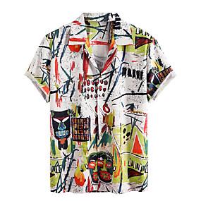cheap Men's Halloween Shirt-Men's Halloween Shirt Graphic Short Sleeve Tops White