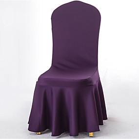 cheap Slipcovers-2 Pcs Stretchy Universal Easy Fitted Dining Chair Cover Slipcovers with Skirt, Removable Washable Anti-Dirty Furniture Protector for Kids Pets Home Ceremony Banquet Wedding Party
