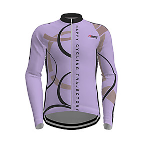 cheap Cycling & Motorcycling-21Grams Men's Long Sleeve Cycling Jersey Polyester White Yellow Red Novelty Bike Jersey Top Mountain Bike MTB Road Bike Cycling Quick Dry Breathable Reflective Strips Sports Clothing Apparel