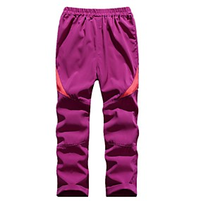 cheap Camping, Hiking & Backpacking-Boys' Girls' Hiking Pants Trousers Patchwork Winter Outdoor Standard Fit Ultra Light (UL) Ventilation Quick Dry Breathable Pants / Trousers Bottoms Violet White Fuchsia Black Pink Fishing Climbing