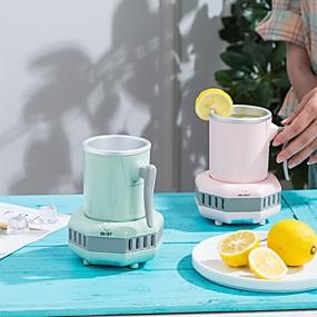 preiswerte Küchengeräte-Getränkebecher Kühlbecher Kühler 430ml für Büro Home Desk verwenden Getränkekühler elektrische Becherplatte Zubehör mit Aluminiumbecher für Wasser Milch Wein Cola Bierdosen Getränk Reisen uns Stecker