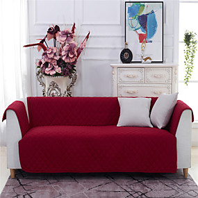 cheap Slipcovers-1 Piece Easy-Going Sofa Slipcover Reversible Quilted Sofa Cover Water Resistant Couch Cover Furniture Protector with Elastic Straps for Pets Kids Children Dog Cat
