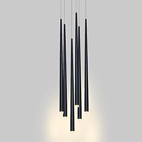 billige Klyngedesign-moderne lysekrone lys hengende lampe trappbelysning ledet for spisestue kontor stue justerbar kreativ 110-120v / 220-240v varm hvit / hvit / 6 lys