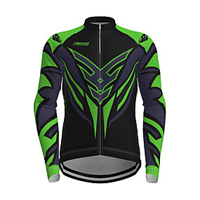 cheap Cycling & Motorcycling-21Grams Men's Long Sleeve Cycling Jersey Polyester Yellow Red Blue Novelty Bike Jersey Top Mountain Bike MTB Road Bike Cycling Quick Dry Breathable Reflective Strips Sports Clothing Apparel