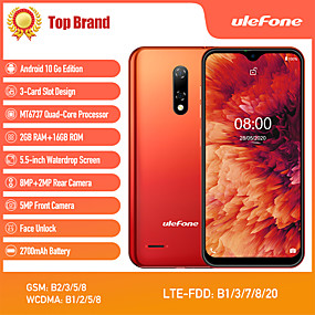 "cheap Cell Phones-Ulefone note 8p 5.5 inch "" 4G Smartphone ( 2GB + 16GB MediaTek MT6737 2700 mAh mAh )"