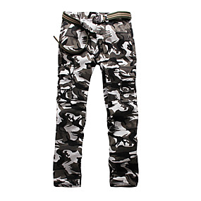 cheap Camping, Hiking & Backpacking-Men's Work Pants Hiking Cargo Pants Hiking Pants Trousers Camo Summer Outdoor Ripstop Ventilation Multi-Pockets Breathable Cotton Pants / Trousers White Grey Green Work Hunting Fishing 28 29 30 31 32