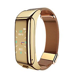 cheap Smart Watches-DT18 Unisex Smartwatch Bluetooth Waterproof Blood Pressure Measurement Hands-Free Calls Camera Camera Control ECG+PPG Pedometer Call Reminder Activity Tracker Sleep Tracker