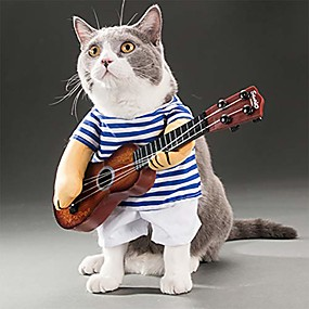 cheap Pet Costumes-pet guitar costume dog sailor costume halloween christmas festive party funny cat clothes