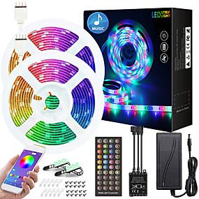 povoljno Kntrola putem aplikacije-10m Savitljive LED trake 300 LED diode SMD5050 Više boja Ukrasno TV pozadina Tiktok LED svjetla 12 V
