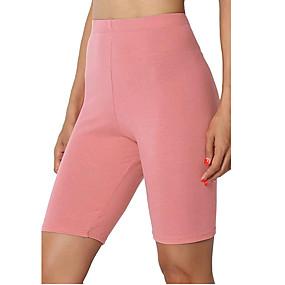 cheap Yoga & Fitness-Women's Yoga Shorts Biker Shorts Shorts Tummy Control Butt Lift Breathable Dark Grey White Black Yoga Fitness Gym Workout Summer Sports Activewear Stretchy