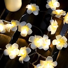 povoljno Svjetlosne trake i žice-3m 20 vodio žice svjetla frangipani svjetlo za uređenje doma vila svjetlost vijenac Božićni vjenčani ukras svjetiljka