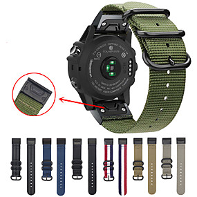 cheap Smartwatch Bands-Easy Fit Nato Premium Nylon Strap for For Garmin Fenix 5 / Fenix 5 Plus   Watch Band Quick Release Replacement Wrist band For Garmin Fenix 6 / 6 Pro / Fenix 5 / Fenix 5 Plus