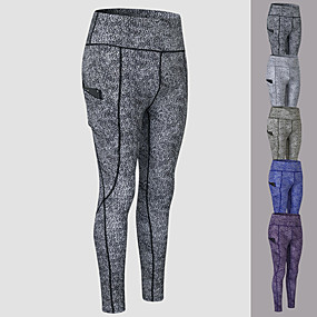 cheap Running & Jogging-YUERLIAN Women's High Waist Running Tights Leggings Compression Pants Athletic Base Layer Bottoms with Phone Pocket Spandex Winter Yoga Fitness Gym Workout Performance Running Tummy Control Butt Lift
