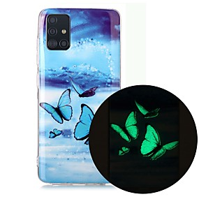 cheap Samsung Case-Case For Samsung Galaxy A51 5G A71 A10 A20E A30S A50 A40 A70 A70E A10S A20S A11 A01 Glow in the Dark Pattern Back Cover Butterfly TPU