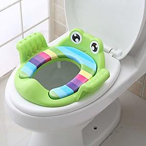 halpa Vauvan hoito ja äitiys tarvikkeita-3 tyyliä pottaharjoitteluistuin lapsille pojille tytöille taaperoille wc-istuin vauvalle tyynyllä ja kahvalla lapsille turvallinen lapsi lasten wc-kouluttajan istuintuoli lastenhoitosuojaus (vihreä)