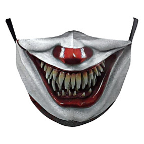 cheap Halloween Accessories-Face cover Men's Polyester One-Size White 1pc / pack Adults Anti-UV Daily Basic All Seasons