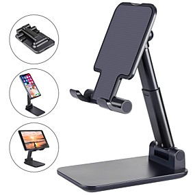 cheap Phone Mounts & Holders-Phone Support For iPhone iPad iPhone SE 2/11/ 11 Pro/XS Max Phone Stand Holder Adjustable Metal Desktop Tablet Holder Upgraded Height Increasing Desk Phone Holder for Cell Phone