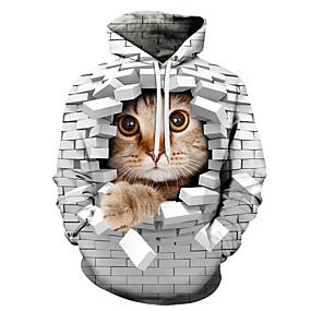 billige Hættetrøjer og sweatshirts til herrer-Herre Ferie Pullover-hættetrøje Grafisk Hætte Afslappet Hættetrøjer Sweatshirts Hvid
