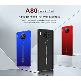 "billige Feature-telefoner-Blackview A80 6.2 tommers "" 4G smarttelefon / Mobiltelefon ( 2GB + 64GB MediaTek MT6737 3800 mAh mAh )"