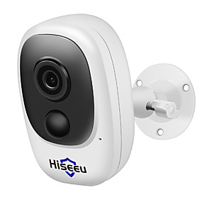 cheap Indoor IP Network Cameras-Hiseeu Hiseeu 100% Wire-Free Rechargeable Battery CCTV Wifi IP Camera Outdoor IP65 Weatherproof Home Security Camera PIR Motion Alarm 15 mp IP Camera Indoor Support