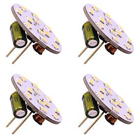 cheap LED Bi-pin Lights-4pcs G4 12 Leds 3528 2W AC12V DC12-24V Corn Led Mini Lampada Led Bulb Beads Dimmable Decorative Warm White Daylight White
