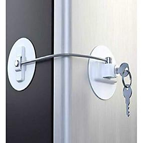 voordelige Babyverzorging en moederschapsbenodigdheden-volwassenen kinderen koelkast deurslot met sleutel, kindveiligheid vriezer deur kabelsloten, dossier ladekast veiligheidsslot (wit)