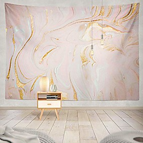 cheap Bedroom-polyester glitter tapestry gold glitter paint tapestry marble gold pastel watercolor ink glitter galaxy liquid flow pink and gold wall hanging tapestry for girls 60x50 inch