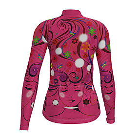cheap Cycling & Motorcycling-21Grams Women's Long Sleeve Cycling Jersey Polyester Yellow Fuchsia Blue Novelty Floral Botanical Bike Jersey Top Mountain Bike MTB Road Bike Cycling Quick Dry Breathable Reflective Strips Sports