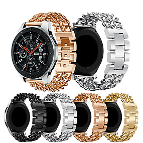 cheap Smartwatch Bands-Watch Band for Gear S3 Classic LTE / Gear 2 R380 / Gear 2 Neo R381 Samsung Galaxy Business Band Stainless Steel Wrist Strap