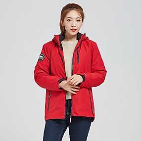 cheap Camping, Hiking & Backpacking-Women's Hiking Jacket Hiking 3-in-1 Jackets Ski Jacket Autumn / Fall Winter Spring Outdoor Solid Color Thermal Warm Waterproof Windproof Breathable 3-in-1 Jacket Ventilation Zip SBS Zipper Hunting