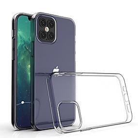 billige Telefoner og tilbehør-gjennomsiktig støtsikker myk silikonetui til iPhone 12 11 pro max x xr xs 8 7 6 6s pluss se 2020 deksel 360 silikonbeskyttelsesdeksel