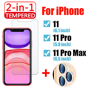 cheap Screen Protectors-2in1 For iPhone 11 Pro Max Protective glass with Camera Lens Screen Protector IPhone11 11 Pro Tempered Glass
