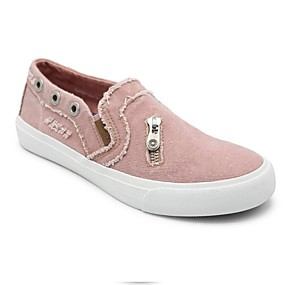 cheap Women's Slip-Ons & Loafers-Women's Loafers & Slip-Ons Flat Heel Round Toe Casual Daily Solid Colored Denim Black / Blue / Pink