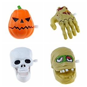 cheap Halloween Toys-Halloween Party Toys Wind-up Toy Trick or Treat 4 pcs Skull Skeleton Ghost Pumpkin Party Favors ABS Kid's Adults Trick or Treat Halloween Party Favors Supplies