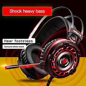 cheap Gaming Headsets-LITBest A6 Gaming Headset USB Wired with Microphone with Volume Control Sweatproof for Gaming