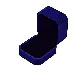 cheap Accessories-velvet ring jewelry storage gift box, ring earrings jewelry counter display props (blue)