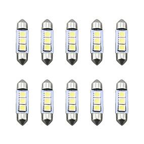 billige Lisensplatelampe-10pcs Integrert LED Bil Elpærer SMD 5050 3 LED Lisensplatelampe Til Universell Alle år