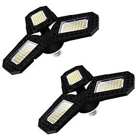 billige Kornpærer med LED-2 stk LED-garasjelys 360 grader deformerbart taklampe for hjemmelagerverksted folding av trebladet deformasjonslampe AC85-265V